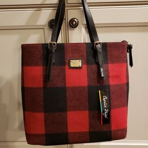 NWT Charlie Paige Tote in Buffalo Plaid